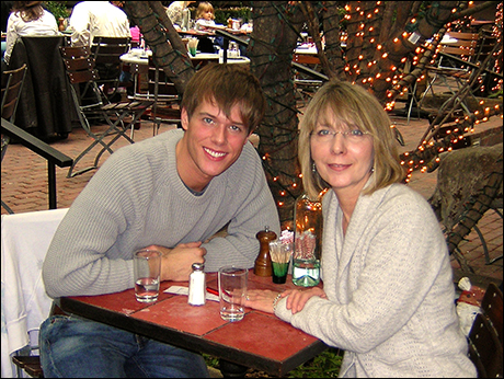 """Will Taylor: """"Taken in 2008.  Being with my mom in New York is my favorite.  I love when she visits!"""""""