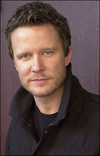 Will Chase, who plays Roger, in the final cast of Broadway's <I>Rent</I>.