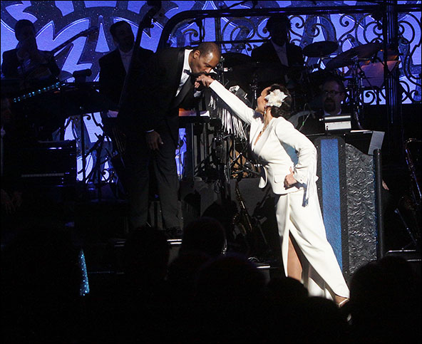 Daryl Waters and Vanessa Williams
