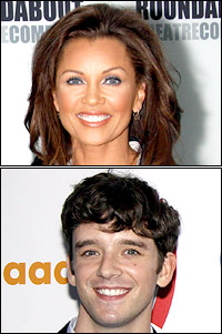 Co-hosts and nominees Vanessa Williams and Michael Urie