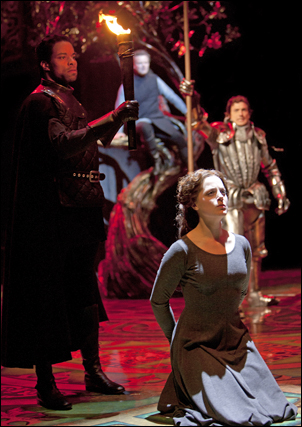 Marcus Nance and Kaylee Harwood in Camelot