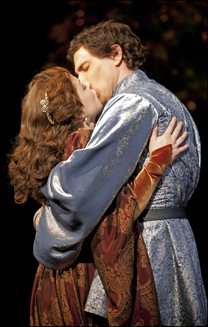 Kaylee Harwood and Jonathan Winsby in Camelot