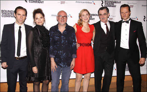 Alessandro Nivola, Mary Elizabeth Mastrantonio, Lindsay Posner, Charlotte Parry, Roger Rees and Chandler Williams
