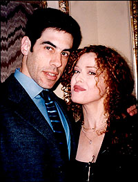 Michael Wittenberg with wife Bernadette Peters.