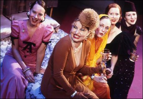 Amy Ryan, Jennifer Coolidge, Lisa Emery, Cynthia Nixon and Lynn Collins in Broadway's The Women, 2001