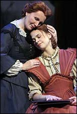 Maureen McGovern (left) and Sutton Foster in <I>Little Women</I>