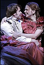 Danny Gurwin and Sutton Foster in <I>Little Women</I>