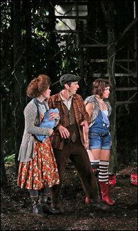 Amy Adams, Denis O'Hare and Sarah Stiles in <i>Into the Woods</i>.