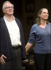 Tracy Letts and Amy Morton at the curtain call.