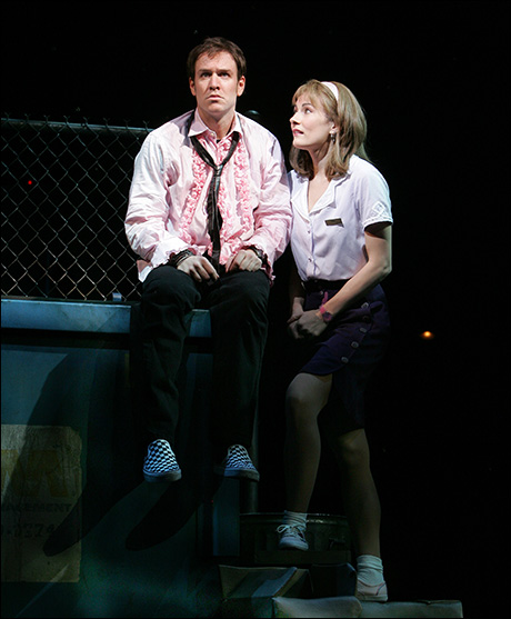 Stephen Lynch and Laura Benanti in The Wedding Singer