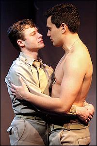 Bobby Steggert and Ivan Hernandez in <i>Yank!</i>