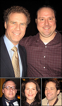 Will and Patrick Ferrell with Adam McKay, Ana Gasteyer and Paul Rudd