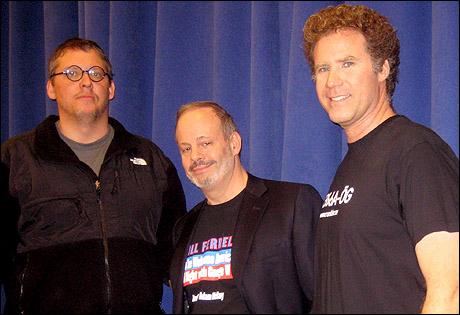 Adam McKay, producer Jeffrey Richards and Will Ferrell