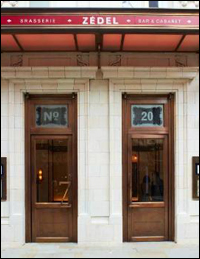 The entrance to Brasserie Z