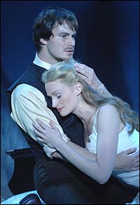 Matt Bogart and Jessica Burrow in <I>Zhivago</I>.