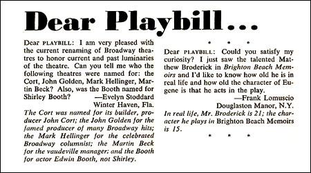 A Chorus Line Playbill