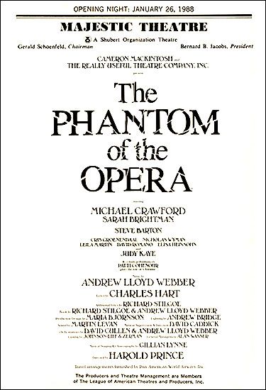 PLAYBILL ARCHIVES: The Phantom of the Opera — 1988 | Playbill